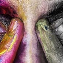 coloured face