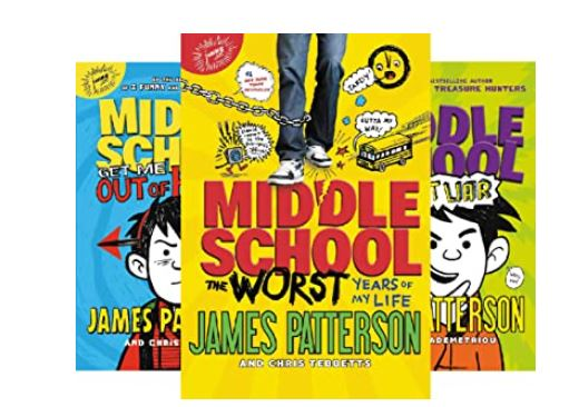 james patterson middle school books in order