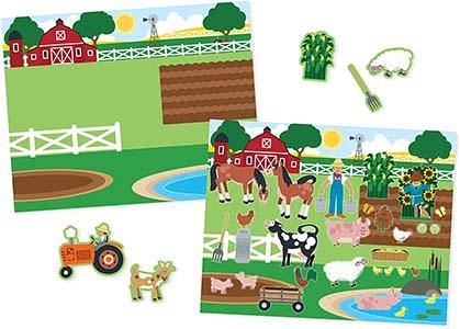 reusable book toddler farm